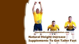Natural Height Increase Supplements To Get Taller Fast