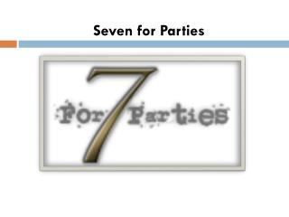 Dallas Wedding Venue - Seven for Parties