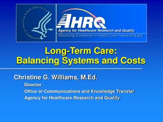 Long-Term Care: Balancing Systems and Costs