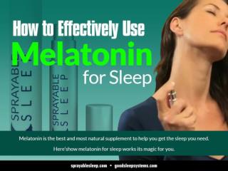 How to Effectively Use Melatonin for Sleep