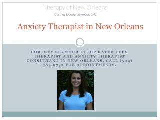 Anxiety therapist in new orleans