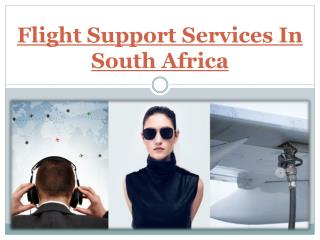 Flight Support Services In South Africa