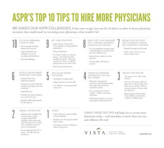 Top Ten Tips to Hire More Physicians