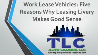 Five Reasons Why Leasing Livery Makes Good Sense.
