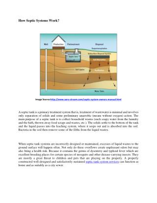 How does Septic System Work?