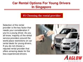 Car Rental options for Young Drivers in Singapore
