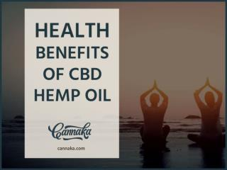 Health Benefits of CBD Hemp Oil