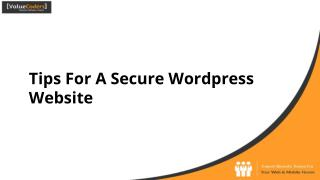 Tips for a secure wordpress website