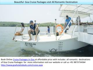 Beautiful Goa Cruise Packages at Cheapest Price