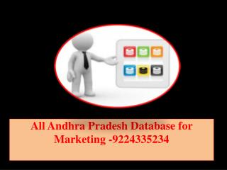 All Andhra Pradesh Database for Marketing -9224335234