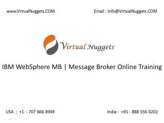 Instructor Led Live IBM WebSphere Message Broker | MB