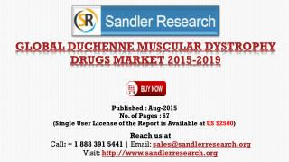 World Duchenne Muscular Dystrophy Drugs Market to Grow at 152.3% CAGR to 2019 Says a New Research Report