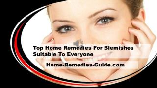 Top Home Remedies For Blemishes Suitable To Everyone