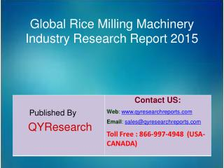 Global Rice Milling Machinery Market Research 2015 Industry Analysis, Forecasts, Research, Shares, Insights, Development