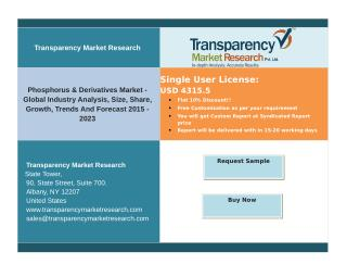 Phosphorus & Derivatives Market -Size, Share, Growth, Trends And Forecast 2015 – 2023.