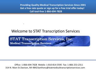 Medical transcription service provider