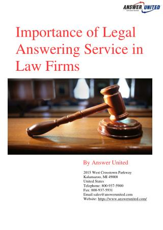 Importance of Legal Answering Service in Law Firms