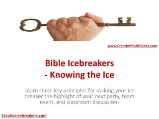 Bible Icebreakers - Knowing the Ice