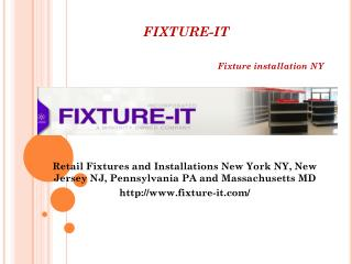 Fixture installation NJ