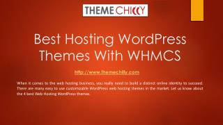 Best hosting WordPress Themes with WHMCS
