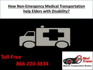 How Non-Emergency Medical Transportation help Elders with Disability