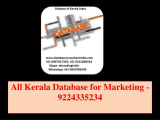 All Kerala Database for Marketing -9224335234