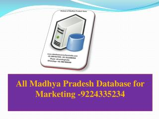 All Madhya Pradesh Database for Marketing -9224335234