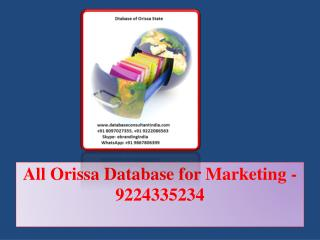 All Orissa Database for Marketing -9224335234