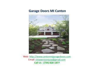 Garage Doors MI Canton