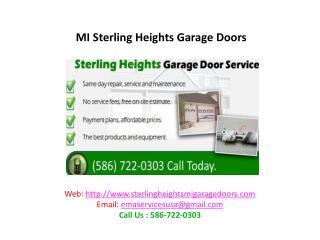 MI Sterling Heights Garage Doors