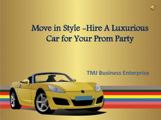 Exotic Car Hire to Arrive or Leave Prom Party in Style
