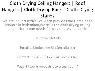 Cloth Drying Ceiling Hangers | Roof Hangers | Cloth Drying Rack | Pulley Ceiling Hangers | Balcony Ceiling Hangers