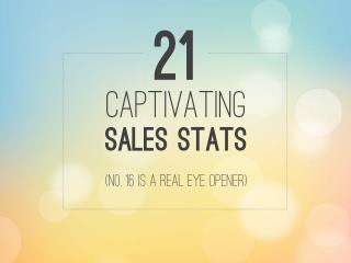21 Captivating Sales Stats