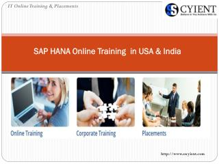 SAP HANA Online Training in USA & India
