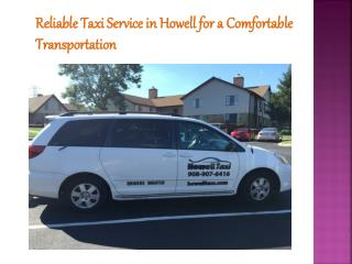 Reliable Taxi Service in Howell
