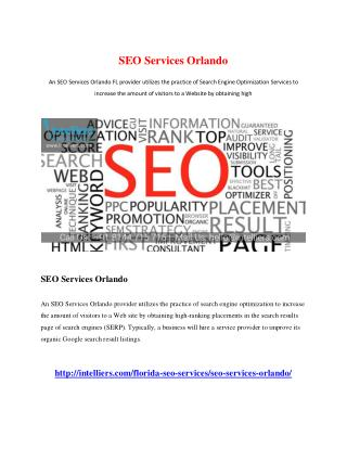 SEO Services Orlando