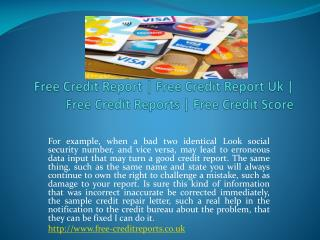 free credit report ** free-creditreports.co.uk