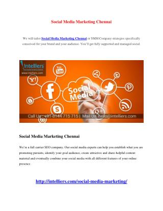 Social Media Marketing Chennai