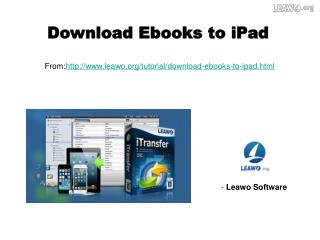 Download Ebooks to iPad