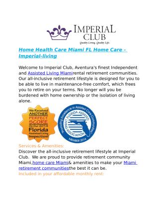 Home Health Care Miami FL Home Care - Imperial-living