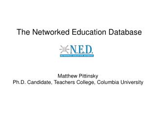 The Networked Education Database