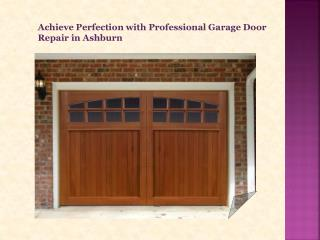 Garage Door Repair in Ashburn
