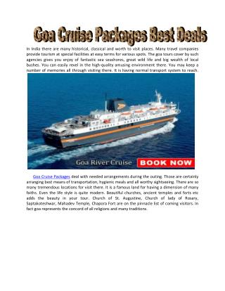 Best Goa Cruise Packages at Cheapest Price