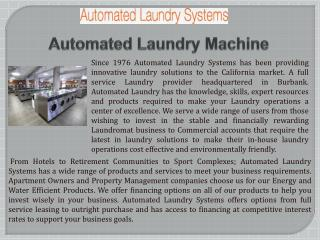 Automated Laundry Machine