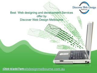 Best Web designing and development Services offer by Discover Web Design Melbourne
