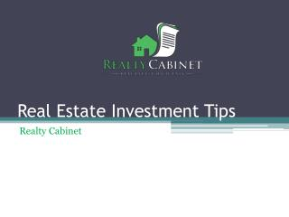 Tips for real estate investment