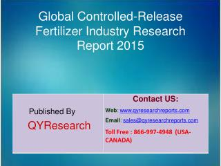 Global Controlled-Release Fertilizer Market 2015 Industry Research, Growth, Overview, Analysis, Share and Trends