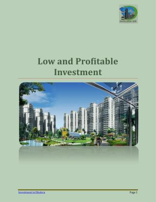 Low and Profitable Investment Opportunities in Dholera