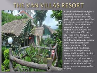 The van villas resort