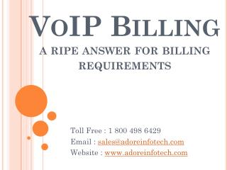 VoIP Billing a ripe answer for billing requirements
